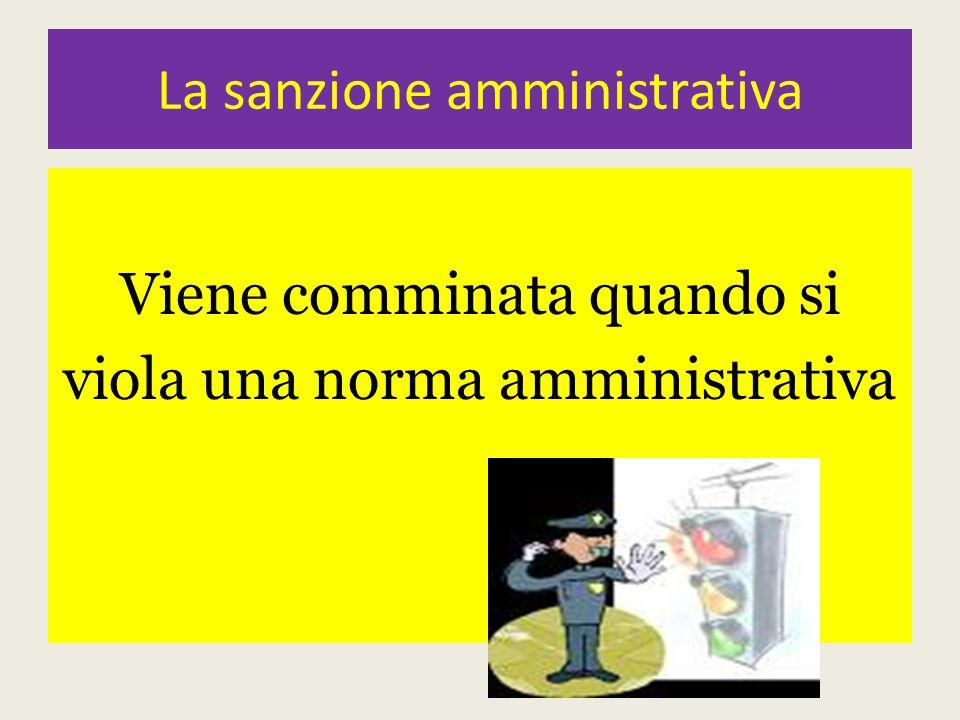 La sanzione amministrativa