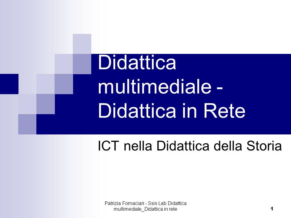 Didattica multimediale -Didattica in Rete