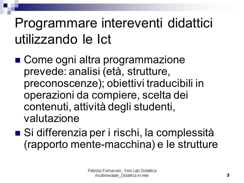 Programmare intereventi didattici utilizzando le Ict