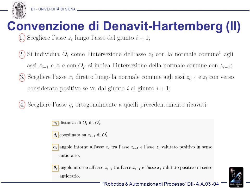 Convenzione di Denavit-Hartemberg (II)