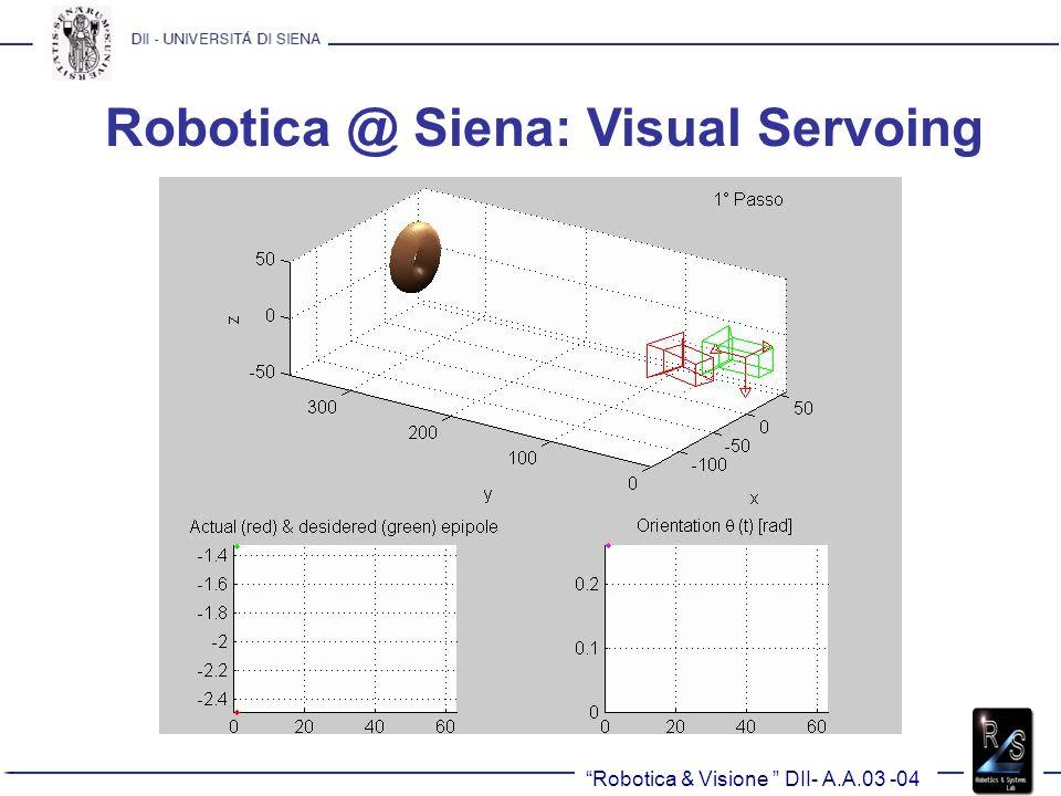 Robotica @ Siena: Visual Servoing