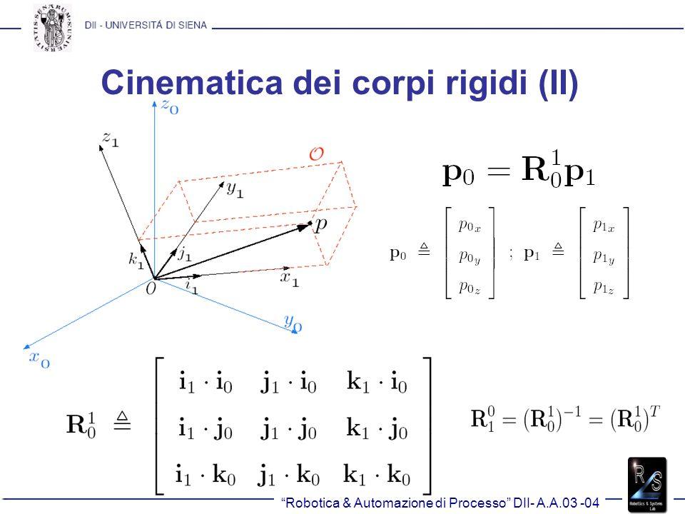 Cinematica dei corpi rigidi (II)