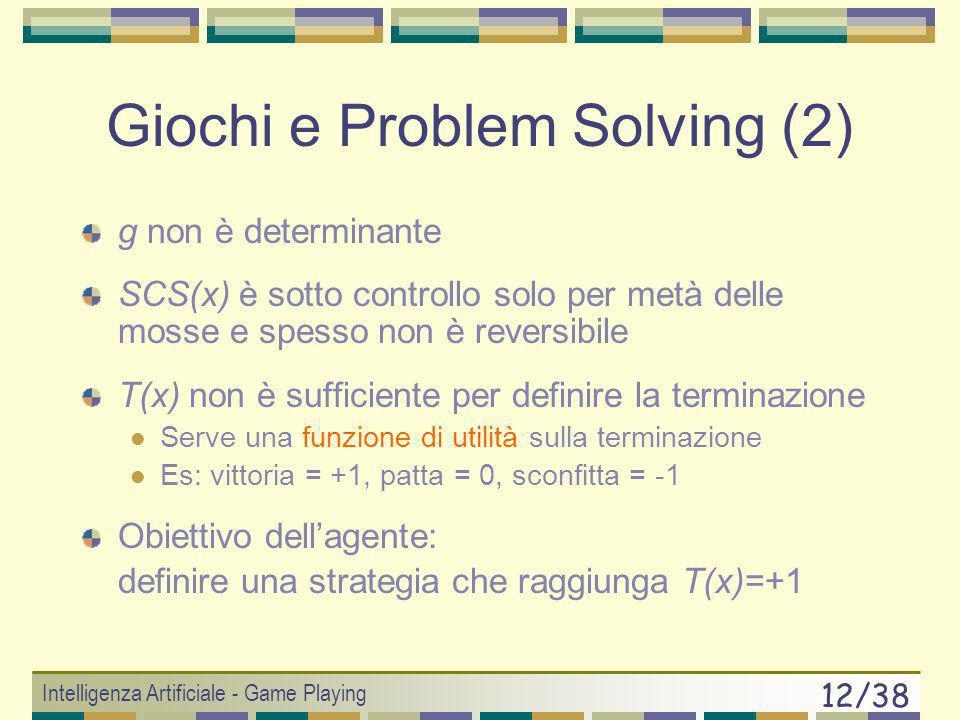 Giochi e Problem Solving (2)