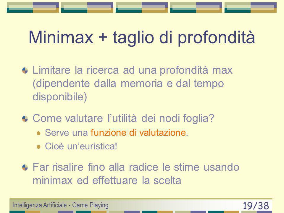 Minimax + taglio di profondità
