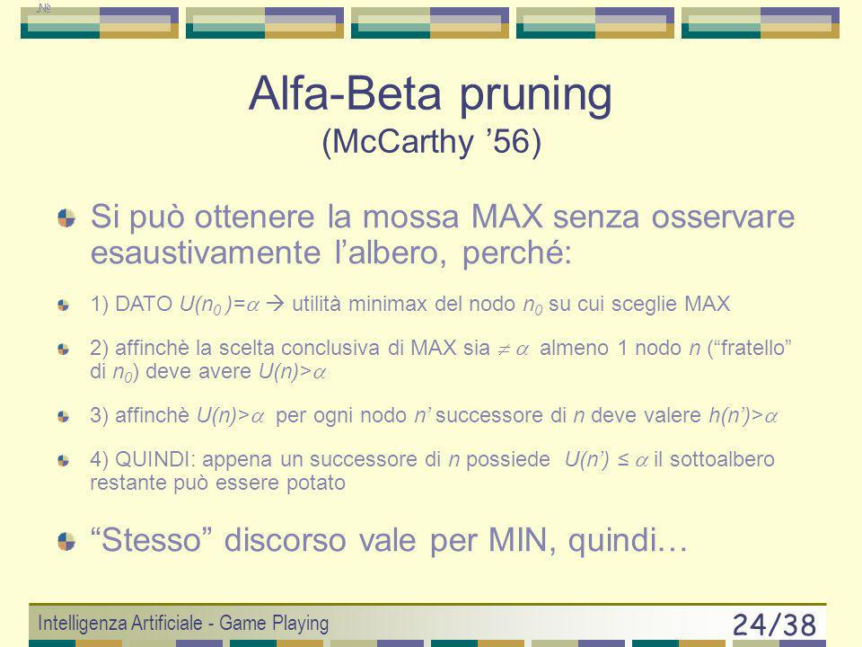 Alfa-Beta pruning (McCarthy '56)