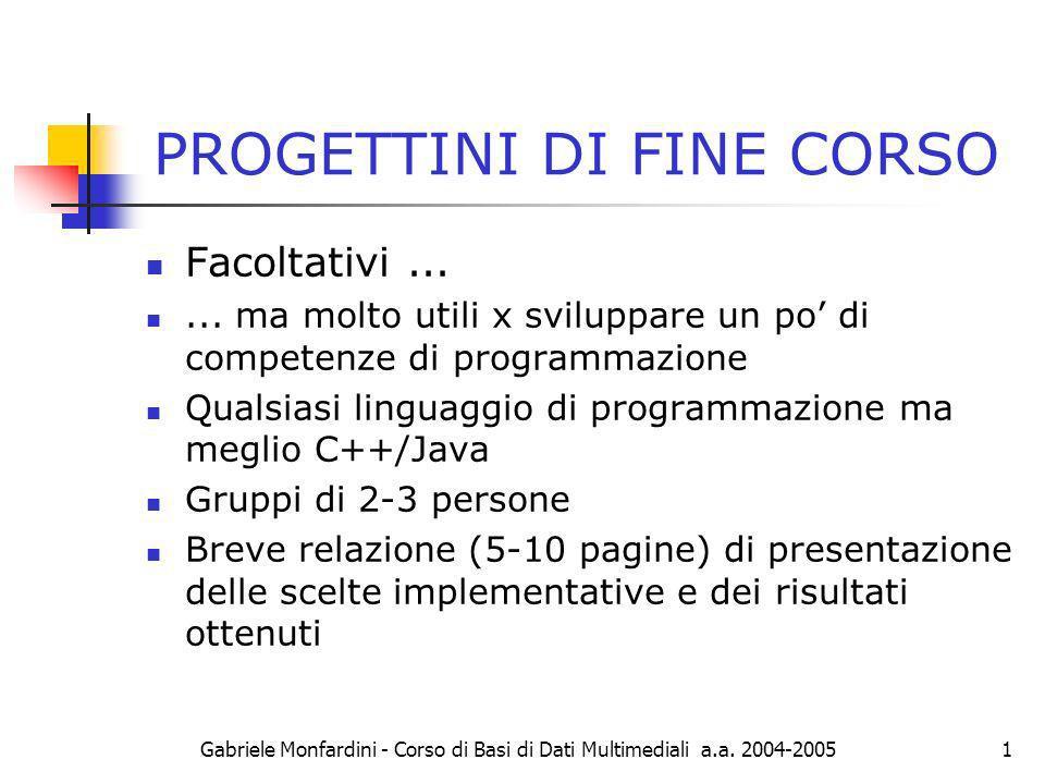 PROGETTINI DI FINE CORSO