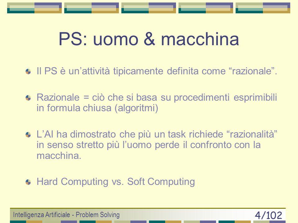 PS: uomo & macchina Il PS è un'attività tipicamente definita come razionale .