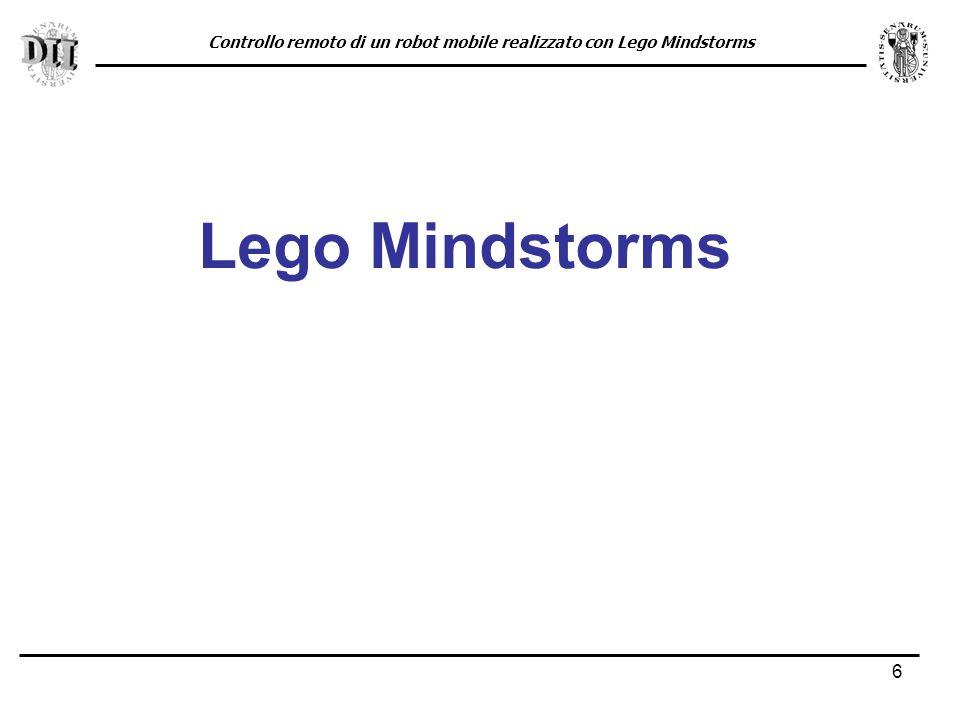 Controllo remoto di un robot mobile realizzato con Lego Mindstorms