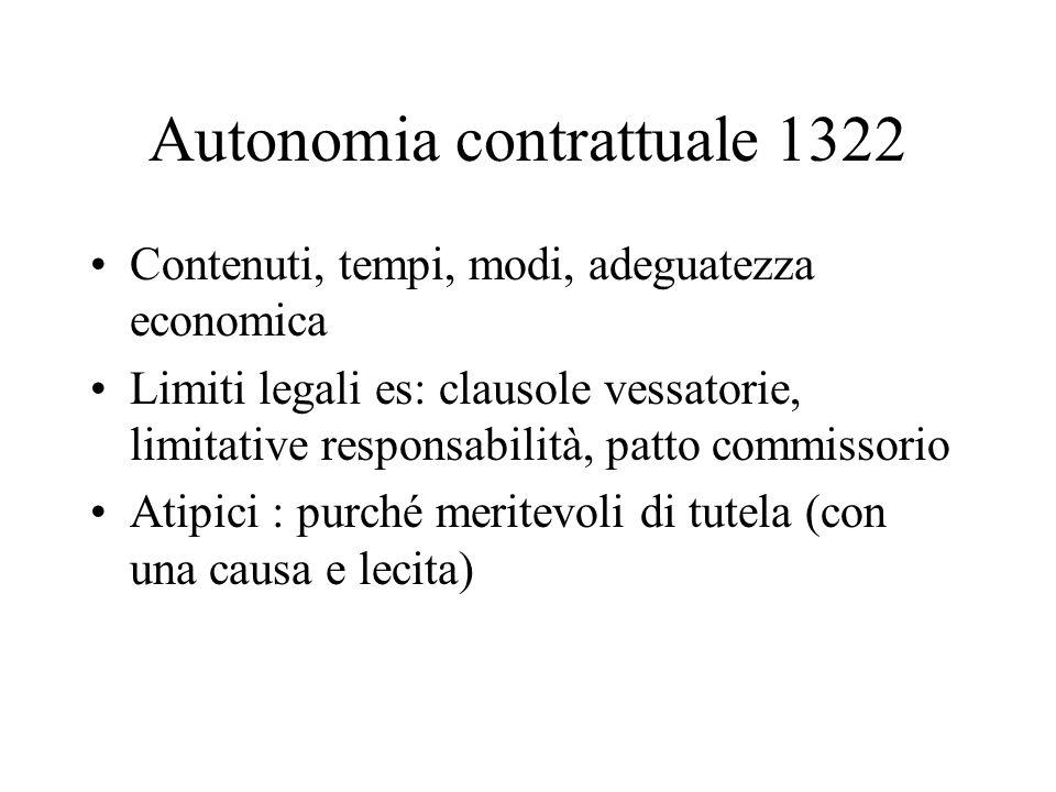 Autonomia contrattuale 1322