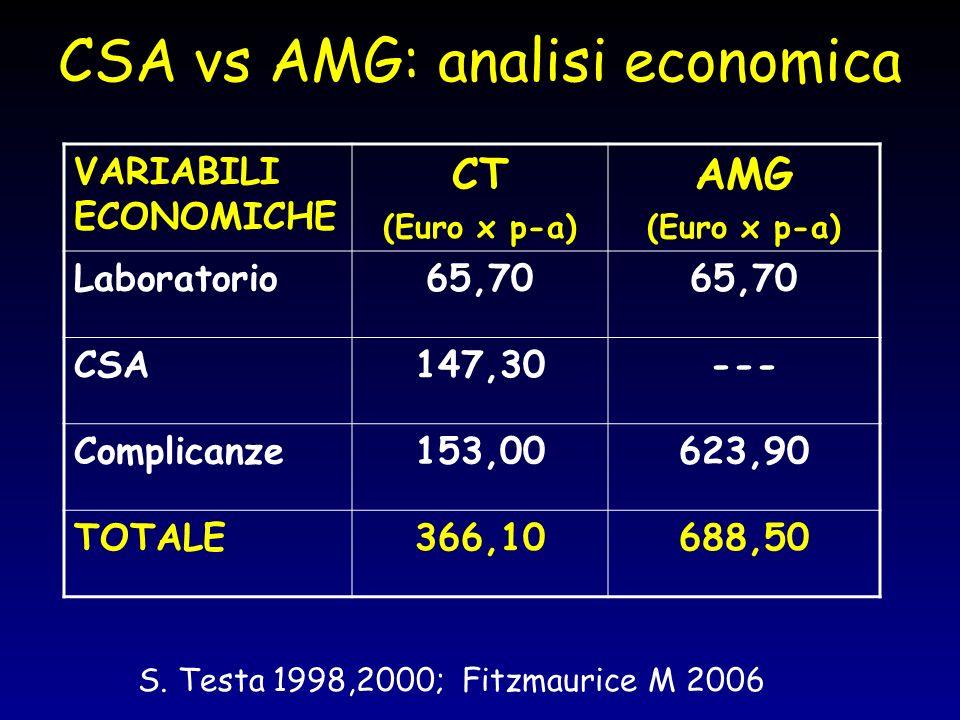 CSA vs AMG: analisi economica