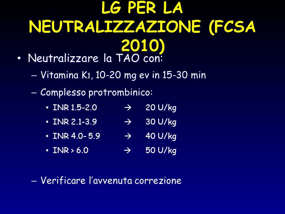 LG PER LA NEUTRALIZZAZIONE (FCSA 2010)