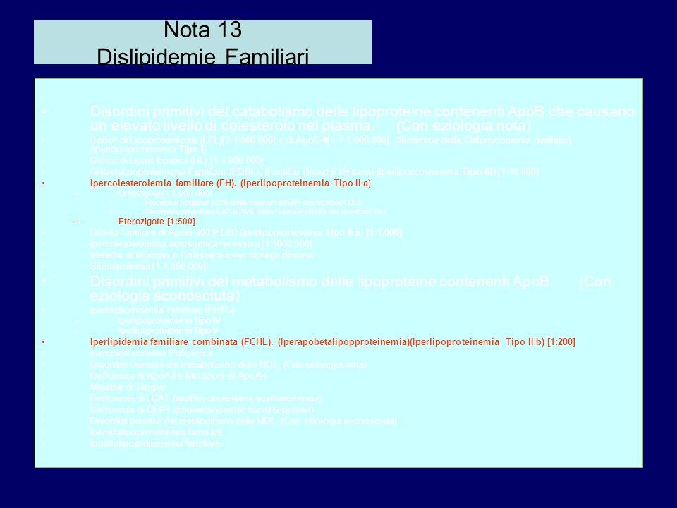 Nota 13 Dislipidemie Familiari