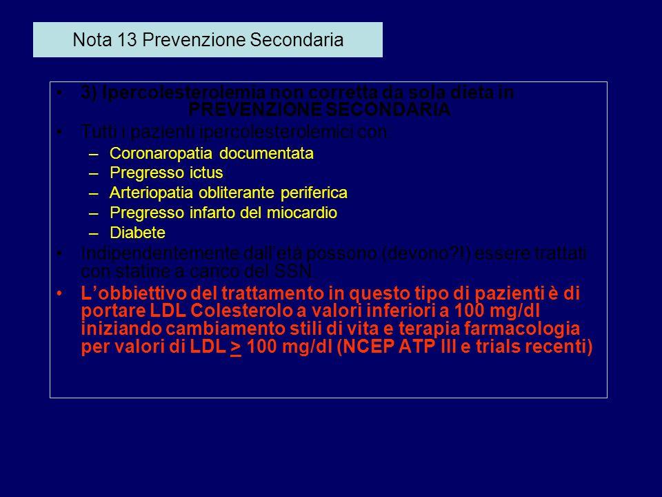 Nota 13 Prevenzione Secondaria