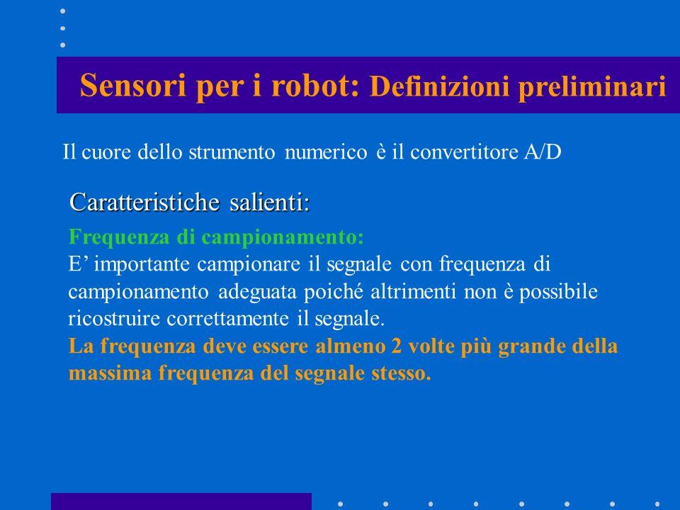 Sensori per i robot: Definizioni preliminari