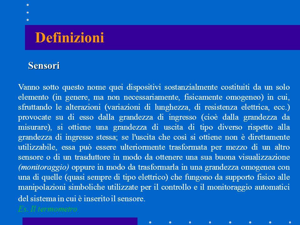 Definizioni Sensori.