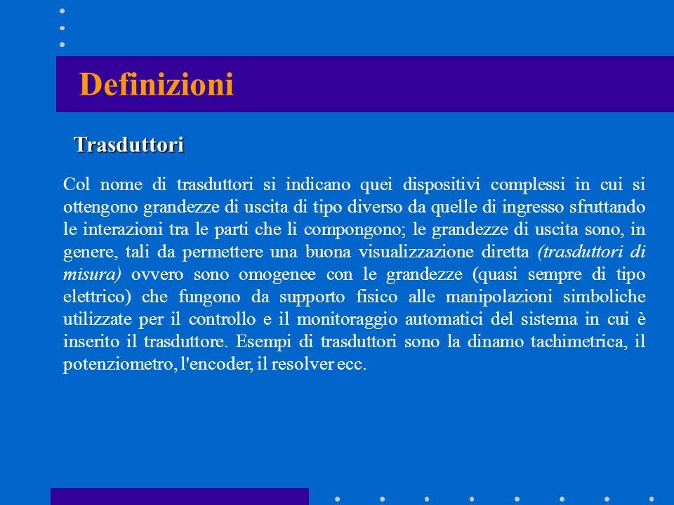 Definizioni Trasduttori