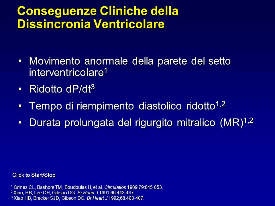 Conseguenze Cliniche della Dissincronia Ventricolare