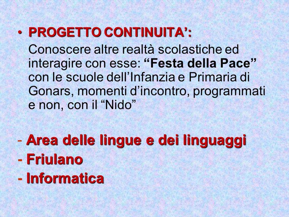 - Area delle lingue e dei linguaggi - Friulano - Informatica