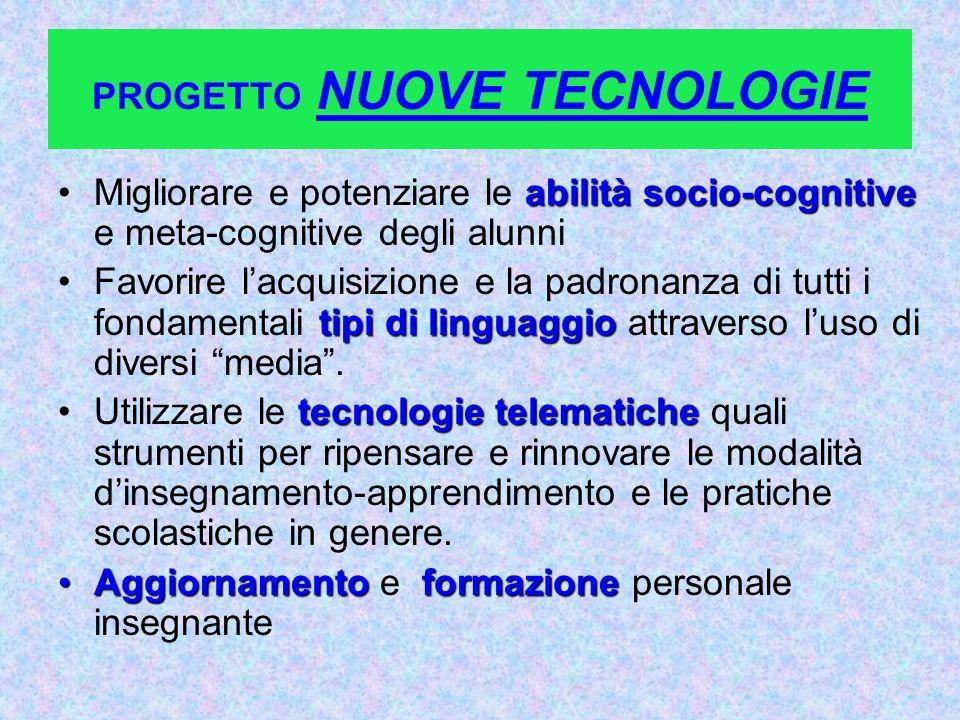 PROGETTO NUOVE TECNOLOGIE