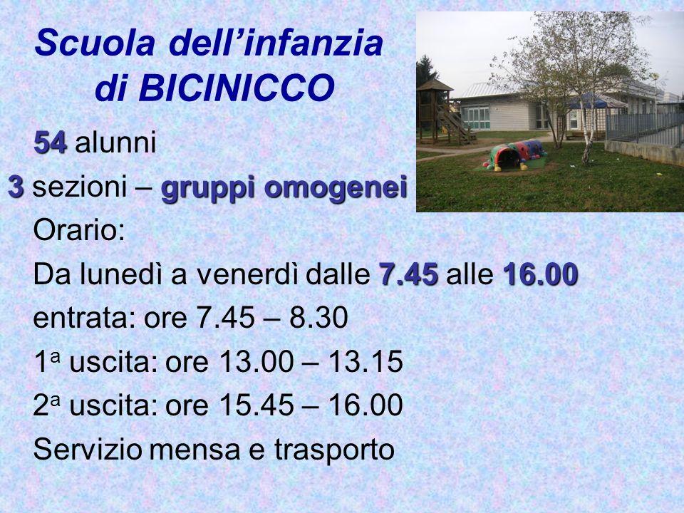 Scuola dell'infanzia di BICINICCO