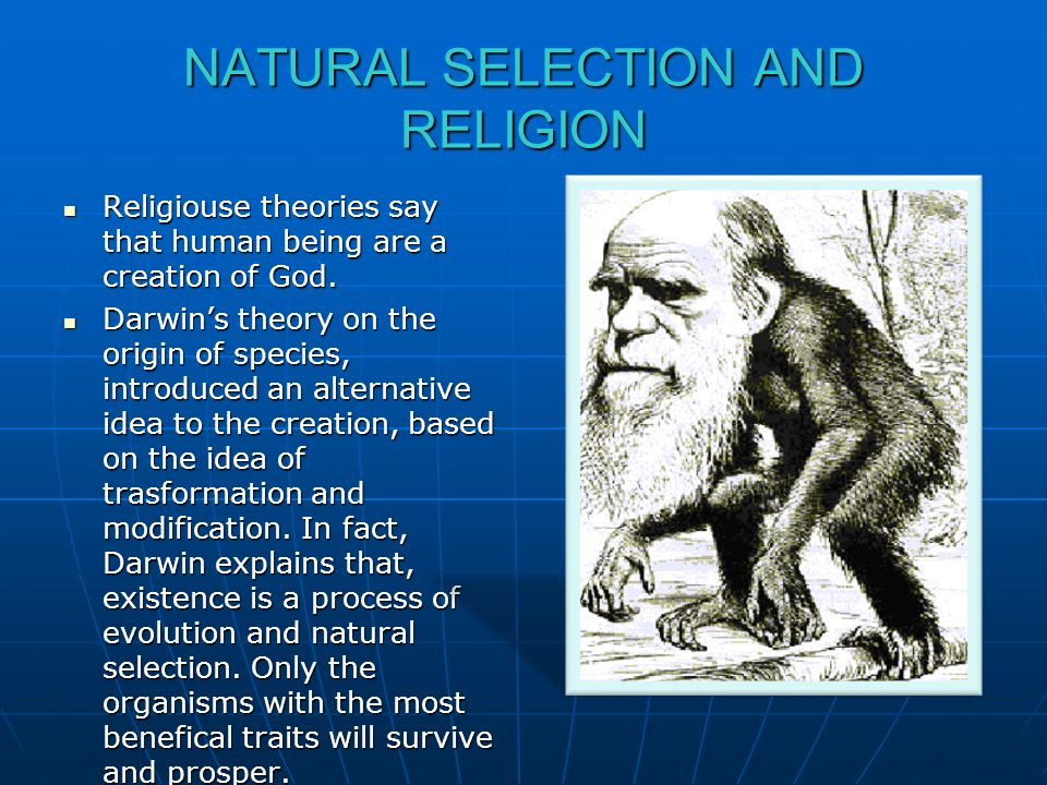 NATURAL SELECTION AND RELIGION
