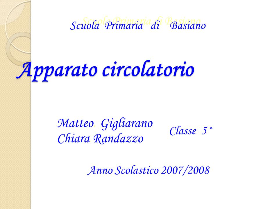 Apparato circolatorio