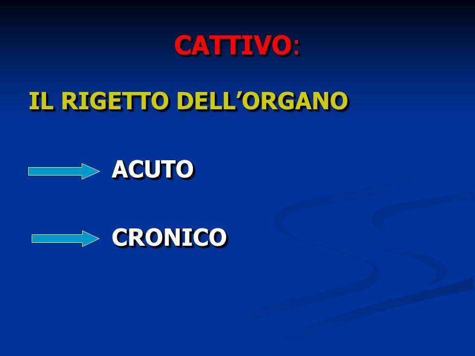 CATTIVO: IL RIGETTO DELL'ORGANO ACUTO CRONICO