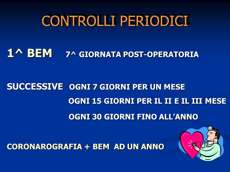 CONTROLLI PERIODICI 1^ BEM 7^ GIORNATA POST-OPERATORIA