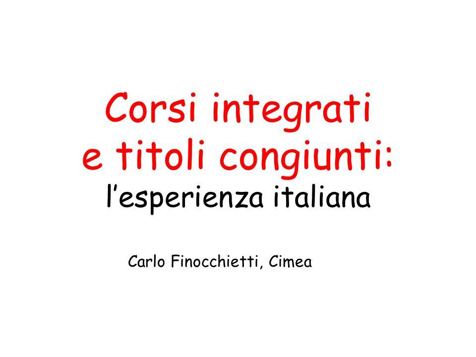 Corsi integrati e titoli congiunti: l'esperienza italiana