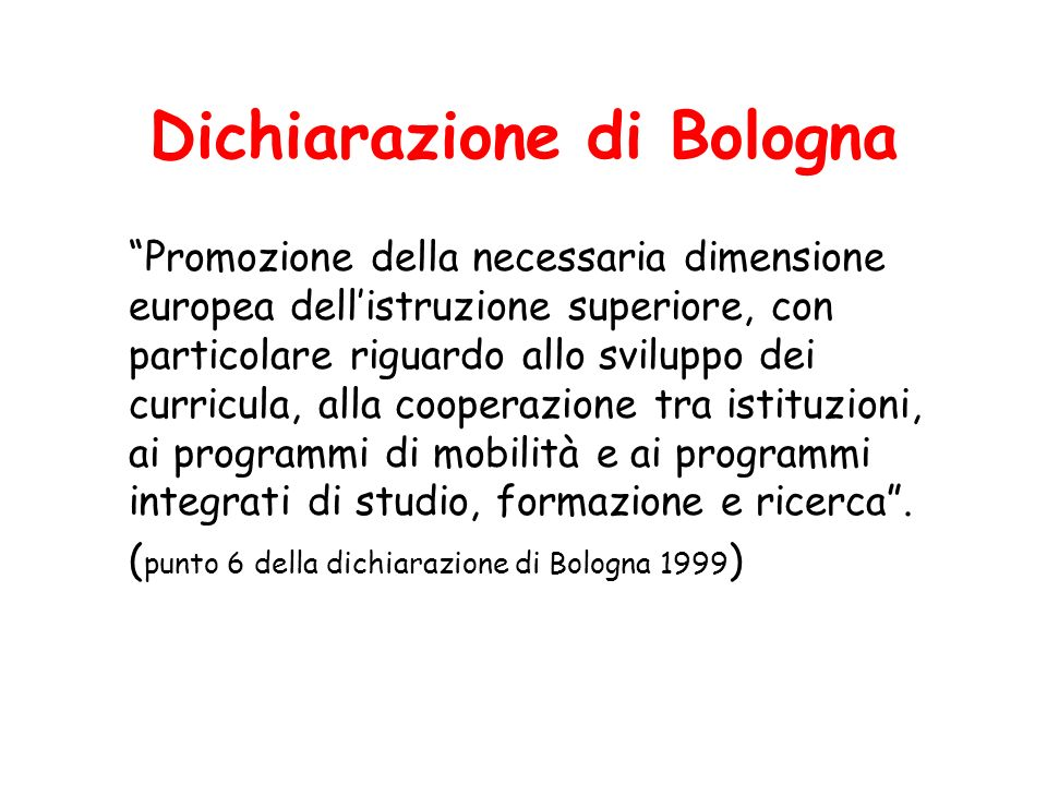 Dichiarazione di Bologna