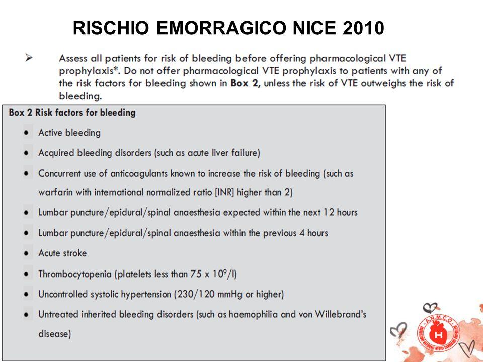 RISCHIO EMORRAGICO NICE 2010