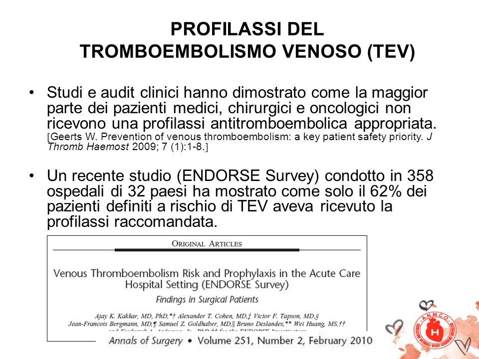 PROFILASSI DEL TROMBOEMBOLISMO VENOSO (TEV)