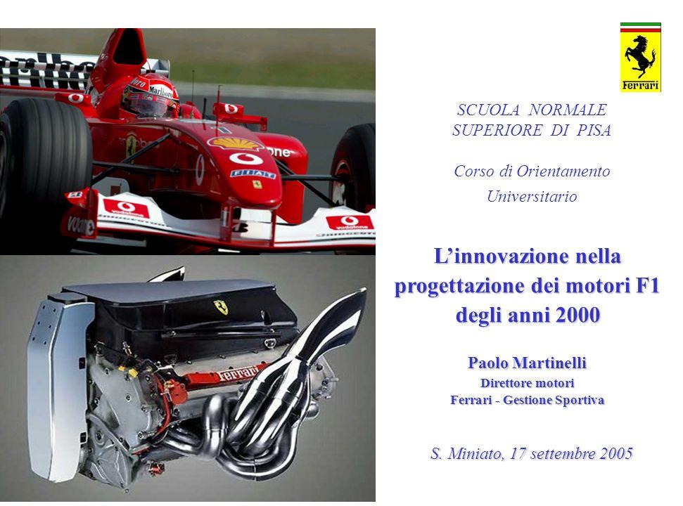 L'innovazione nella progettazione dei motori F1 degli anni 2000