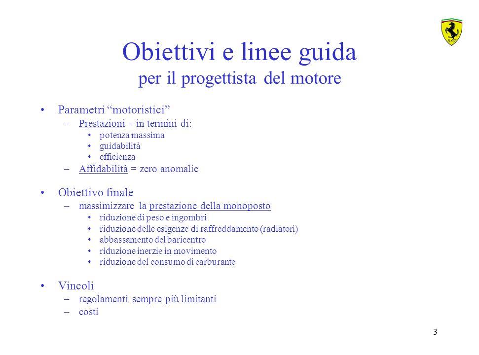 Obiettivi e linee guida per il progettista del motore