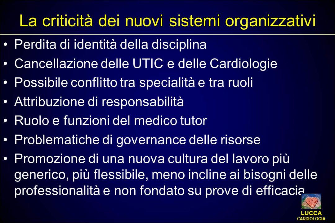 La criticità dei nuovi sistemi organizzativi