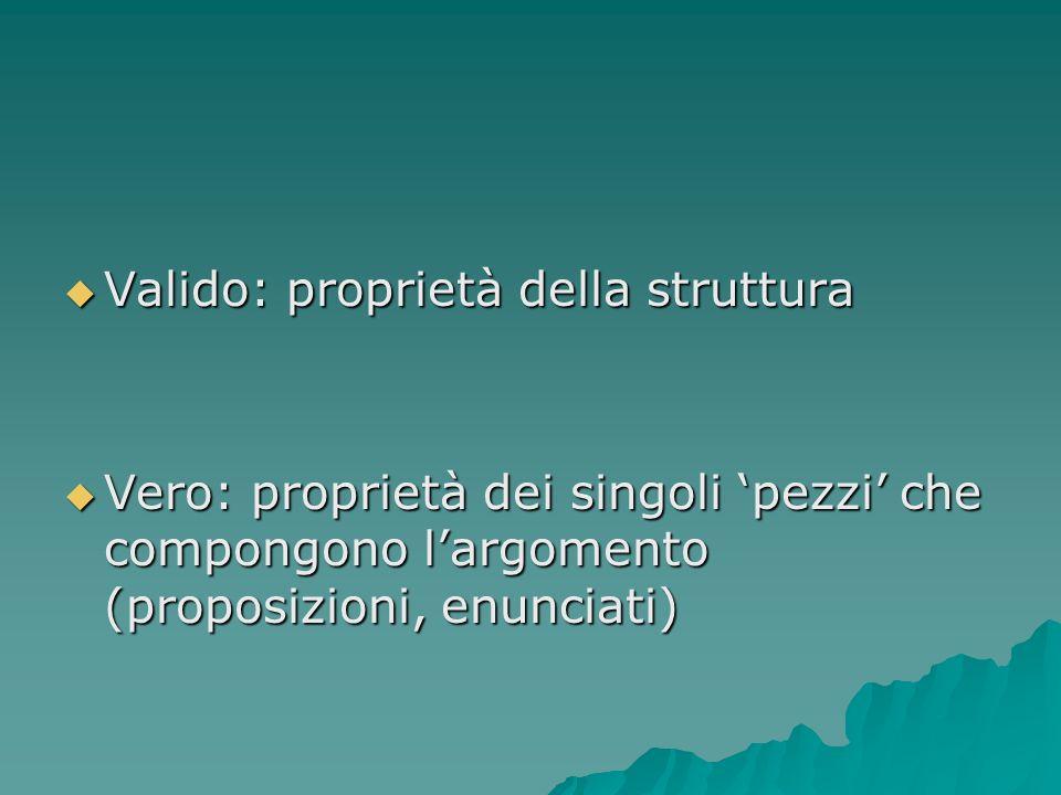 Valido: proprietà della struttura