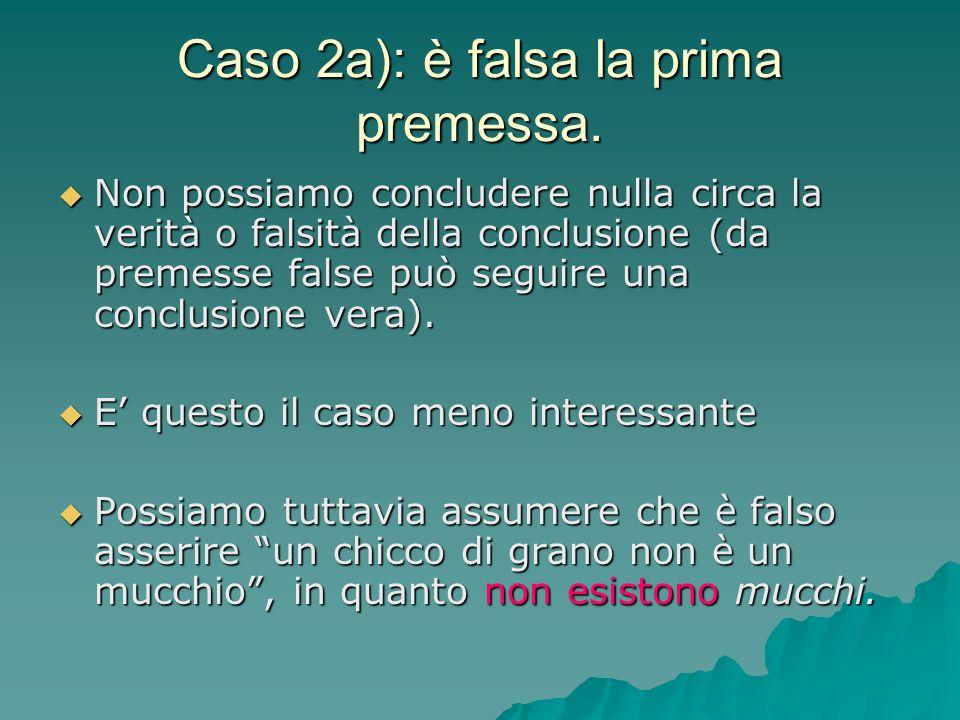 Caso 2a): è falsa la prima premessa.