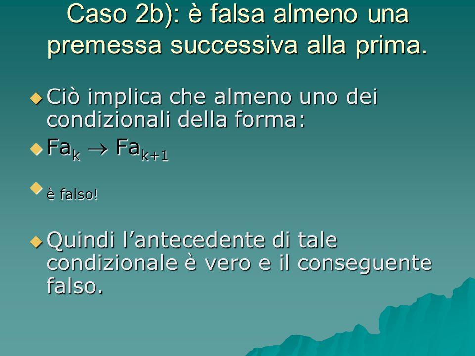 Caso 2b): è falsa almeno una premessa successiva alla prima.