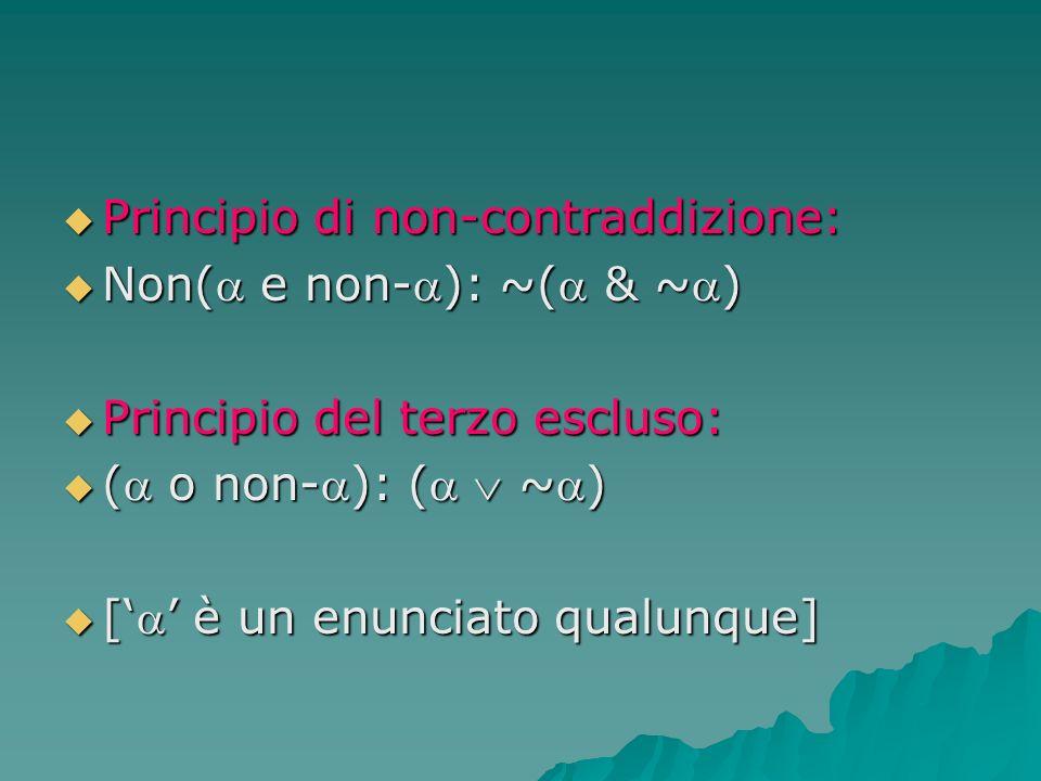 Principio di non-contraddizione: