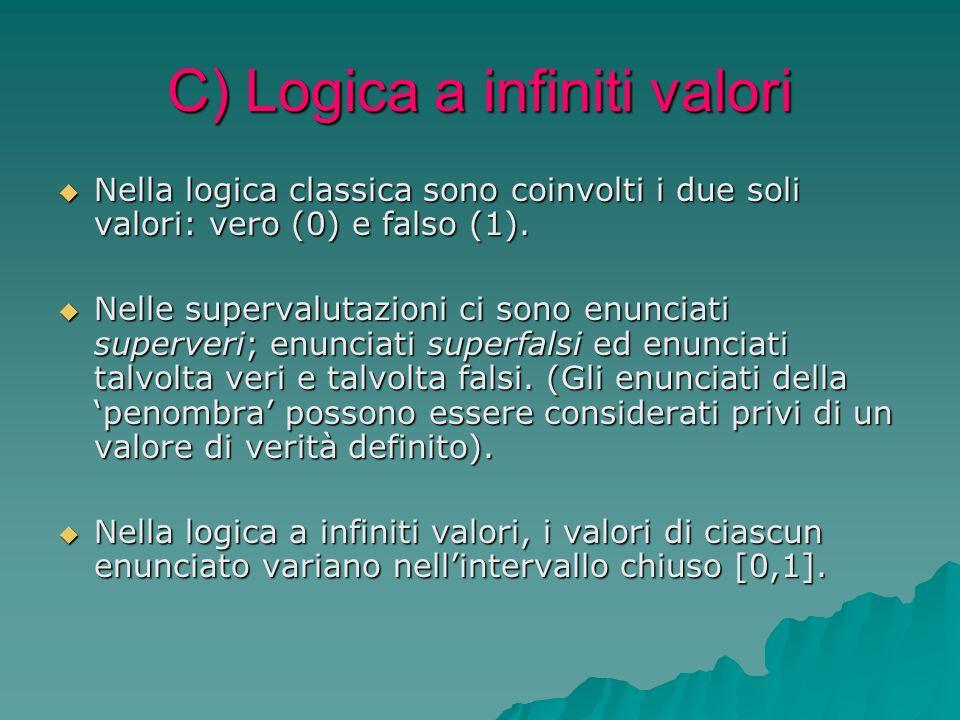 C) Logica a infiniti valori