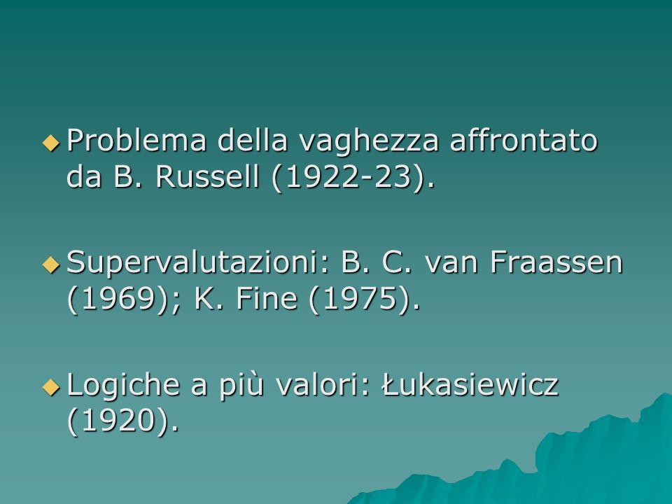 Problema della vaghezza affrontato da B. Russell (1922-23).