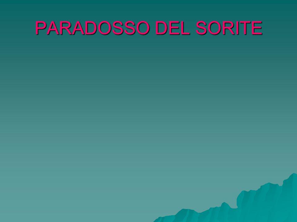 PARADOSSO DEL SORITE