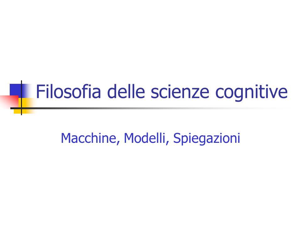Filosofia delle scienze cognitive