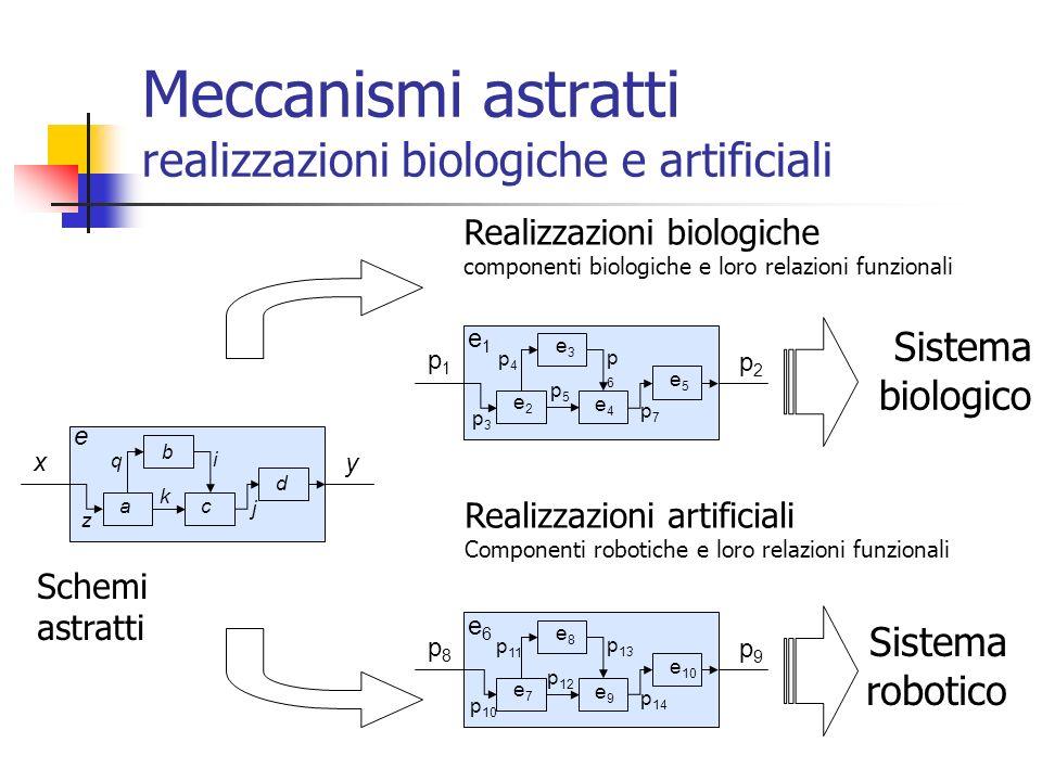 Meccanismi astratti realizzazioni biologiche e artificiali