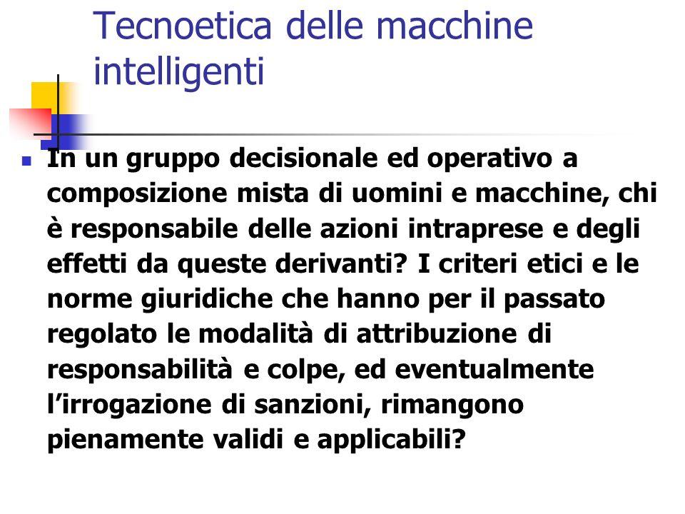 Tecnoetica delle macchine intelligenti