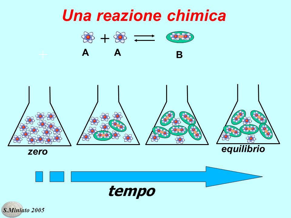 Una reazione chimica + + A A B equilibrio zero tempo S.Miniato 2005