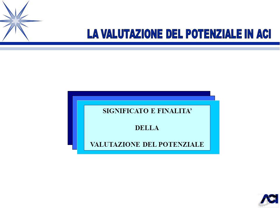 SIGNIFICATO E FINALITA' VALUTAZIONE DEL POTENZIALE