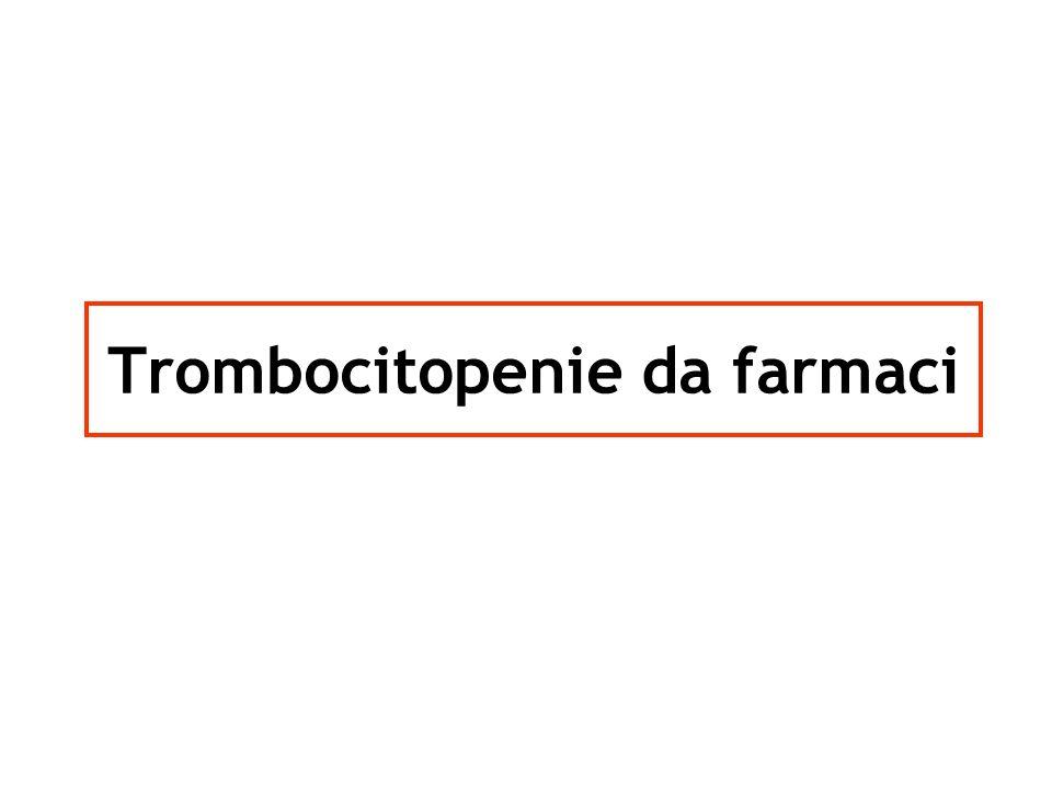 Trombocitopenie da farmaci