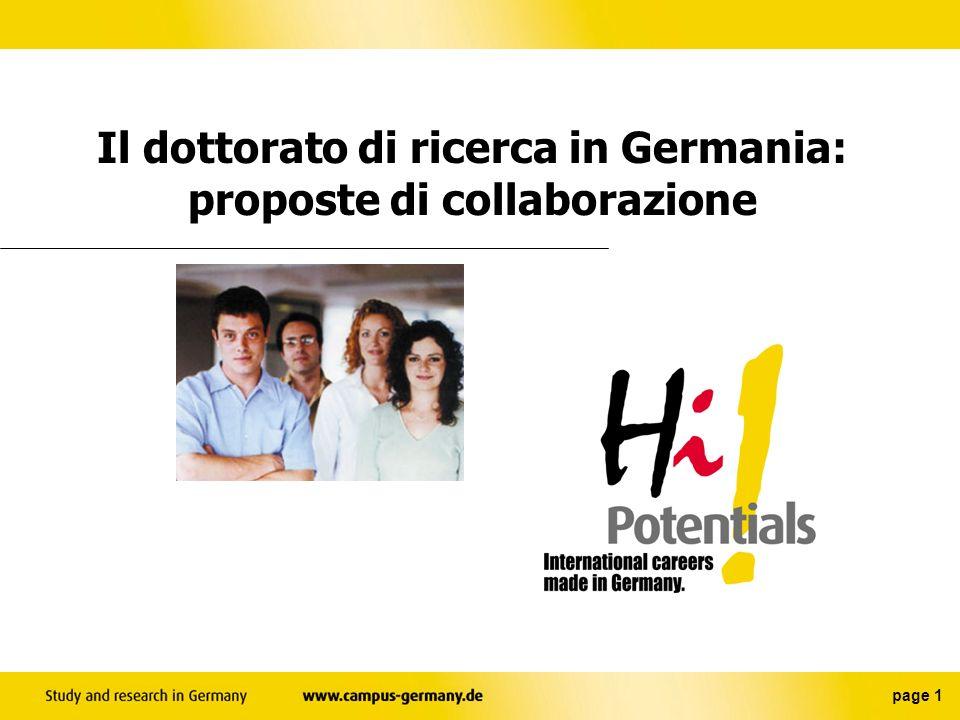 Il dottorato di ricerca in Germania: proposte di collaborazione