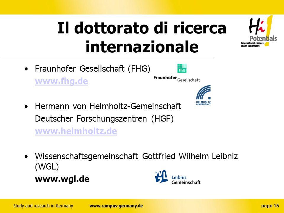 Il dottorato di ricerca internazionale